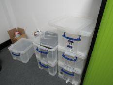6 35L Really Useful Clear Boxes