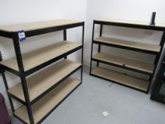 2 Steel Boltless Steel Shelf Units