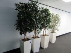 4 Various Artificial Plants