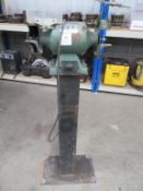 Commander electric bench grinder on stand
