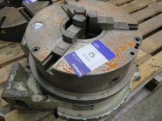 Pratt Burnerd three jaw chuck on Jones-Shipman rotary table