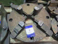 Large unbranded engineers four jaw chuck