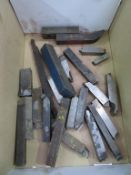 Box of lathe tooling