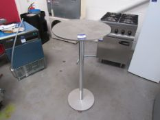 Stainless Steel Round High Table