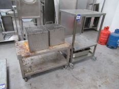 2 Various Stainless Steel Trolleys with 2 Stainles