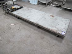 Fabricated Mobile Steerable Trolley Low Level Appr