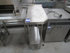 Stainless Steel Chamfer Two Tier Bench, 400 x 850