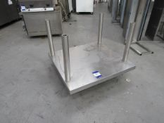 Stainless Steel 4 Column Mobile Appliance Unit