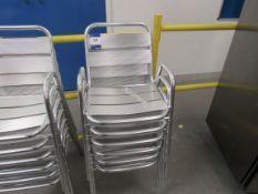 6 x Aluminium Chairs