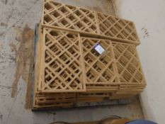 Pallet to contain qty of decorative garden screens