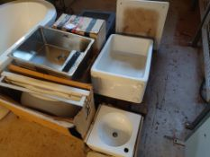 Assortment of Bathroom Sinks and Baths.