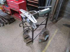 Stand mounted pipe bending, RAM & a qty of formers
