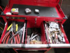 A Clarke HD Plus tool cabinet and contents.