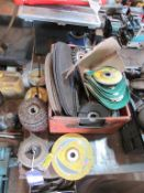 Qty of assorted cutting & grinding discs