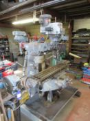 Bridgeport series I 2HP turret mill with shaping attachment, power feed and two axis Dro
