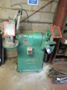 Rowland double end pedestal grinder