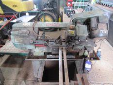 """A Truecraft 12"""" x 7"""" hydraulic metal cutting bandsaw 240V"""
