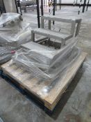 4 assorted pallets - 3 step SS steps, SS tray, SS Bin bag holder, SS Control panel, Genie B scrubber