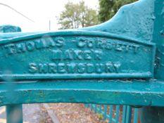 Antique 3 tier cheese press by Thomas Corbett