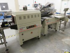 L Sealer and Shrink tunnel. Opti Packaging Systems.