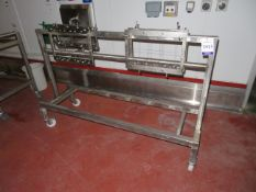 2 x SS Gravity roller cheese conveyors