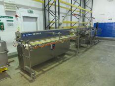 2 x Alpma portion spacing conveyors