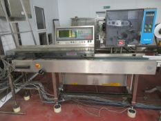 Delford 7000 HS weigher with 200 mm belt and print head