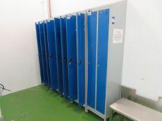 5 x Personel lockers, Twin door sloping tops