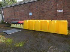 3 x Plastic Chemical spill bunds & 1 x Plastic chemical spill bund with 3 stations