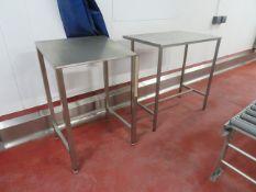 3 x SS Tables, 2 x Hygienox Angles workstations