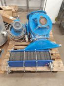 Part of Microbrewery Process to include multiplate heat exchanger, cast iron body SS rotors etc.