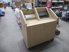 Oak effect 2 Cupboard/ Single Drawer Counter
