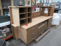 Large wooden effect desk