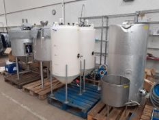 Part of Microbrewery Process to include hot liquor tank, copper/kettle etc.