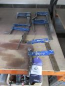 x5 Various 'F' Clamps