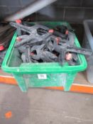 Quantitiy of Spring Clamps in Plastic Crate