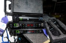 Two QWM 1940V2 Wireless Receivers & Microphones