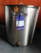 Small Stainless Steel Brew Tank with 2 Heating Elements 45Ltr