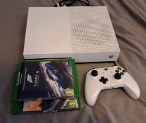 Xbox One S console (Model 1681), with wireless controller, and 2 x Games: Forza Horizon 3, and Forza