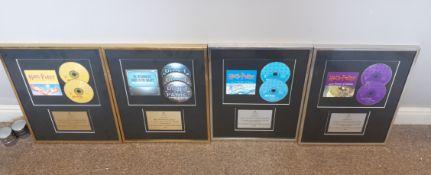 Assortment of framed memorabilia, including Harry