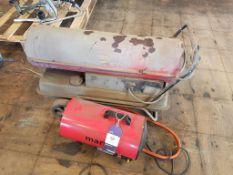2x Workshop Heaters Diesel & Propane 240v