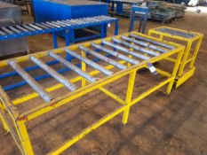 2 Sections Roller Feed Conveyor For Bandsaw 2000X 790MM + 480 x 690MM