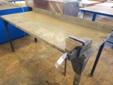 Steel Bench and Vice approx 850 x 770mm