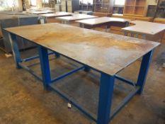 Steel Welding Bench approx 2500 x 1260mm