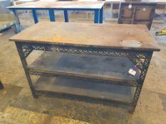 3 Tier Workbench with cast steel top