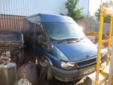 Ford Transit 280 MWBTD Van- engine and gearbox. Non Runner