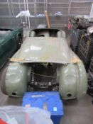 Triumph TR2 body shell/ rolling chassis reg. 200CMX and stripped engine parts