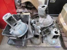 Pallet of Triumph TR2/6 gearboxes, top covers, overdrive etc