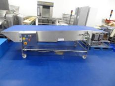 Take off conveyor from Lot 56 - Conveyor Lines SS mobile conveyor with 1000 x 3500 belt with 150 inc