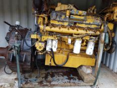 Caterpillar 3412T Marine Diesel Engine with MG520 Gearbox, used